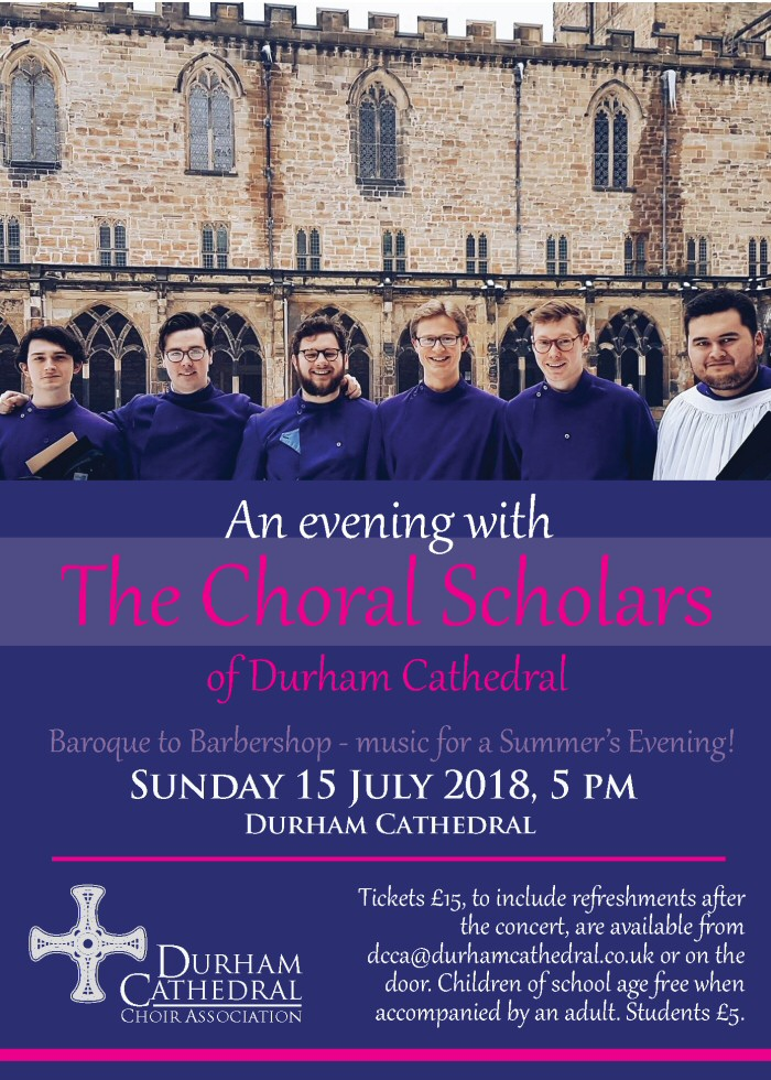 An Evening with the Choral Scholars of Durham Cathedral